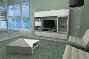 LINHA TRIVIATO estante tv cinza_branco