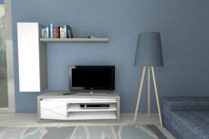 LINHA TRIVIATO movel tv 140 cinza_branco