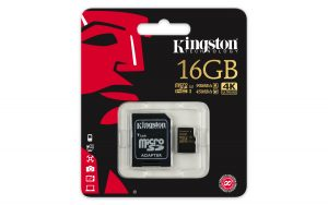 KINGSTON SD16GB MICRO SDHC CL3 U3 U
