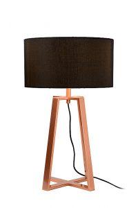 COFFEE Table Lamp E27 H57.5cm Shade Black/Copper