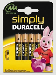 DURACELL SIMPLY AAA K4