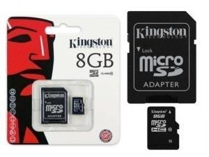 KINSDC10 8GB MICRO COM ADAP SD