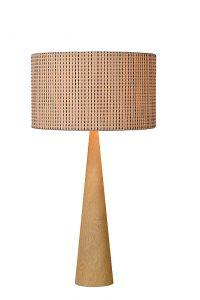CONOS Table Lamp E27 H65 D35cm Wood/Shade Brown