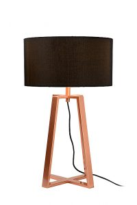 COFFEE Table Lamp E27 H57.5cm Shade Black/Copper
